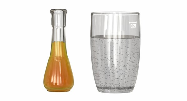 glass flask 3D