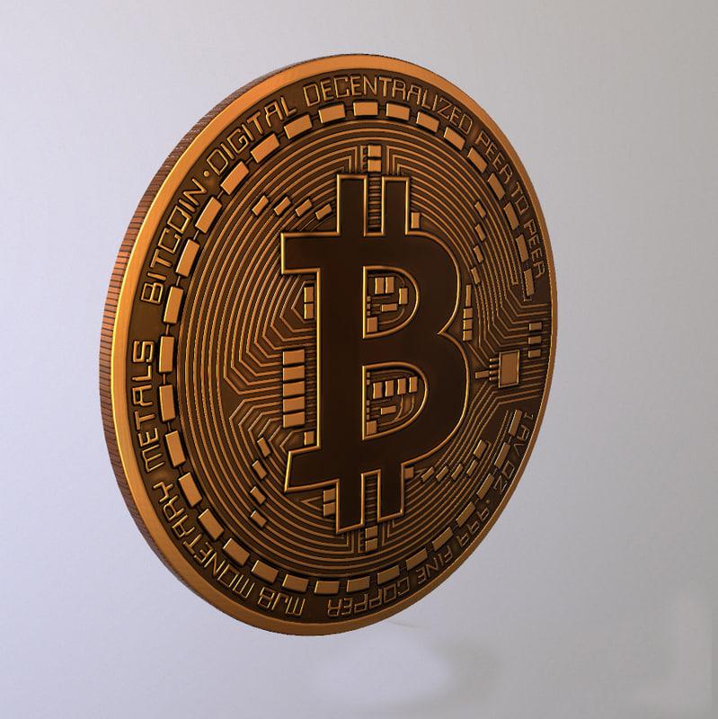 3D model bitcoin 2018
