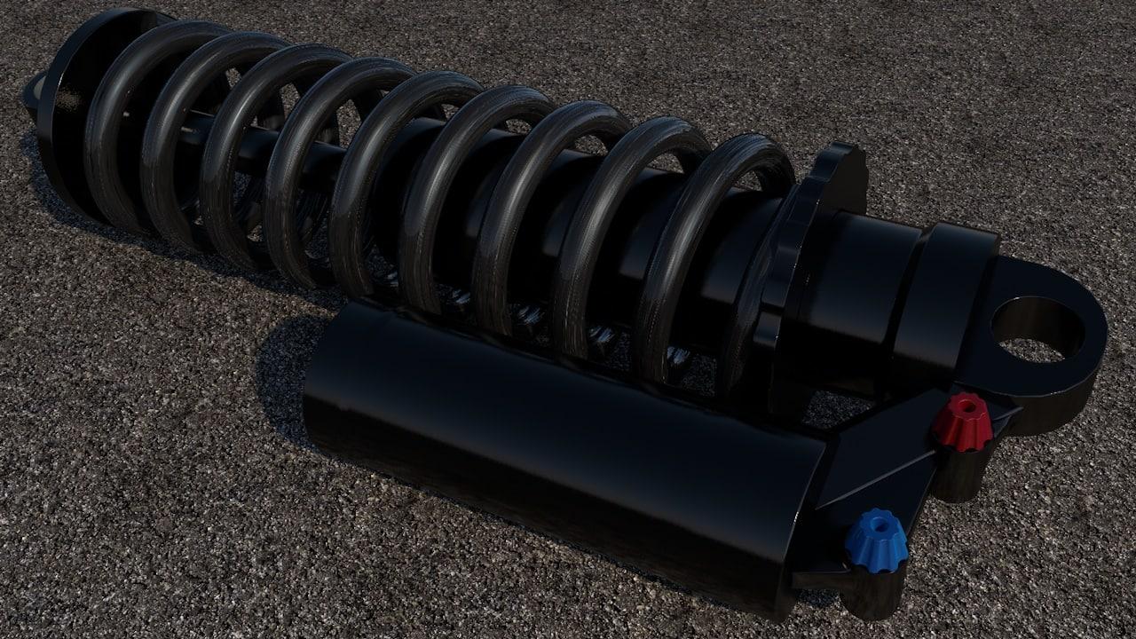 rockshox shock absorber 3D model