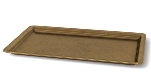 3D brass tray model