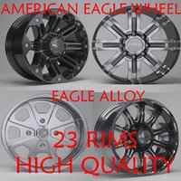 3D eagle alloy rims model