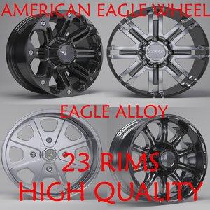3D eagle alloy rims model