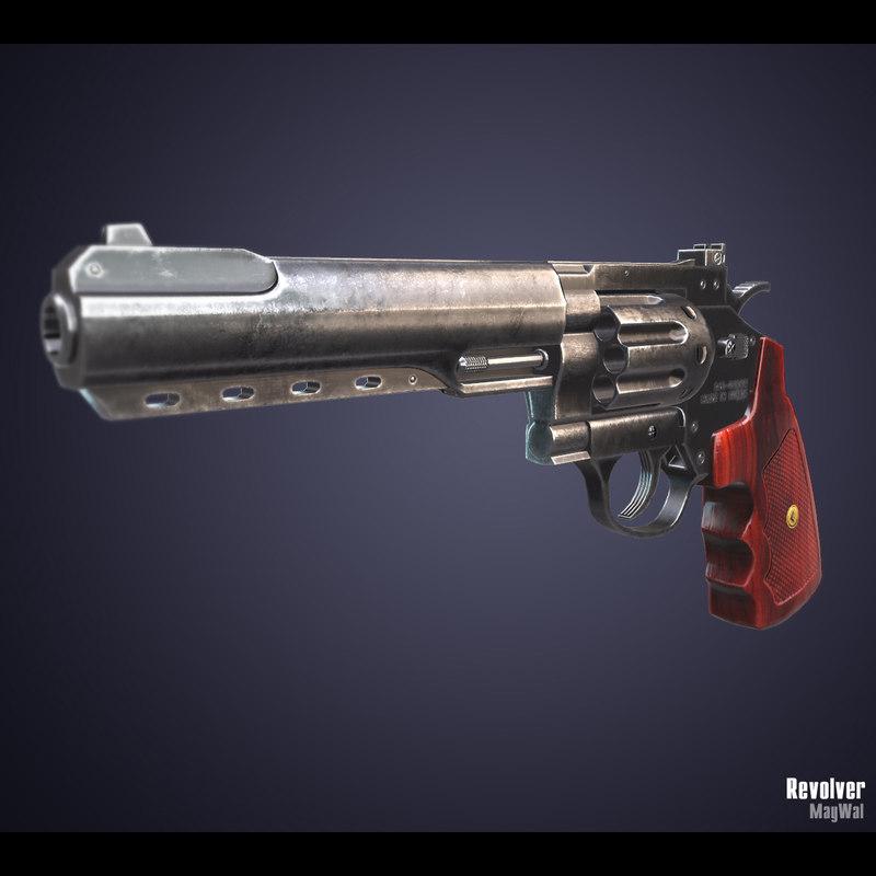 revolver ammo 3D model