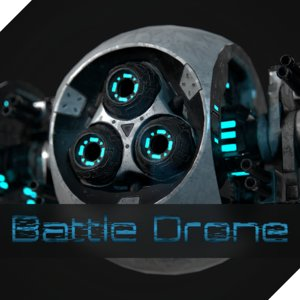 flying drone battle 3D model