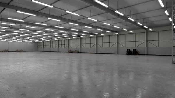 3D industrial building interior 3b