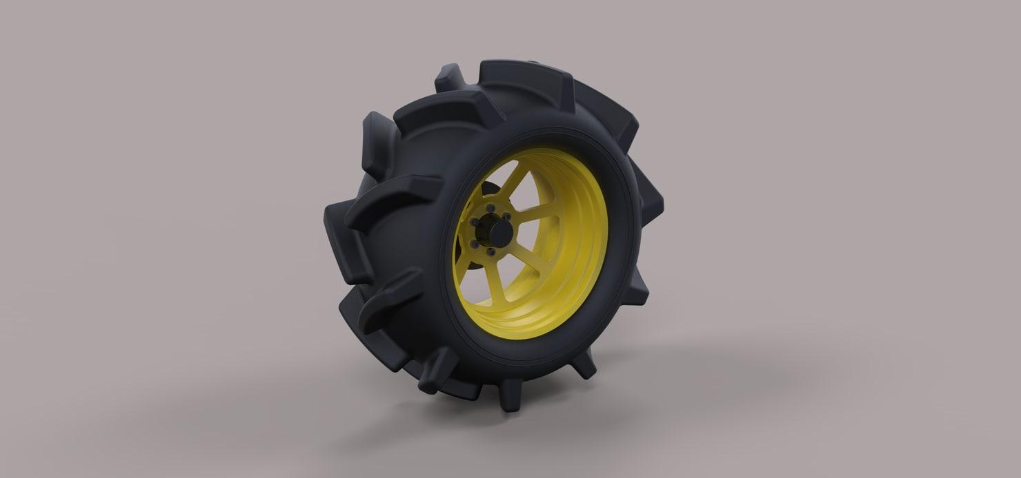 wheel offroad 3D