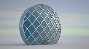 3D model realistic aldar headquarters