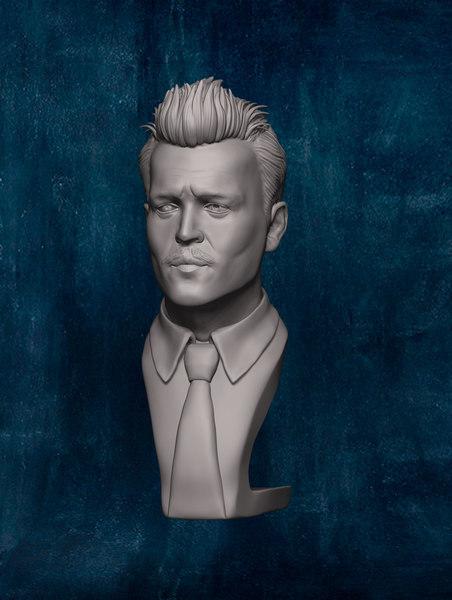 3D johnny depp