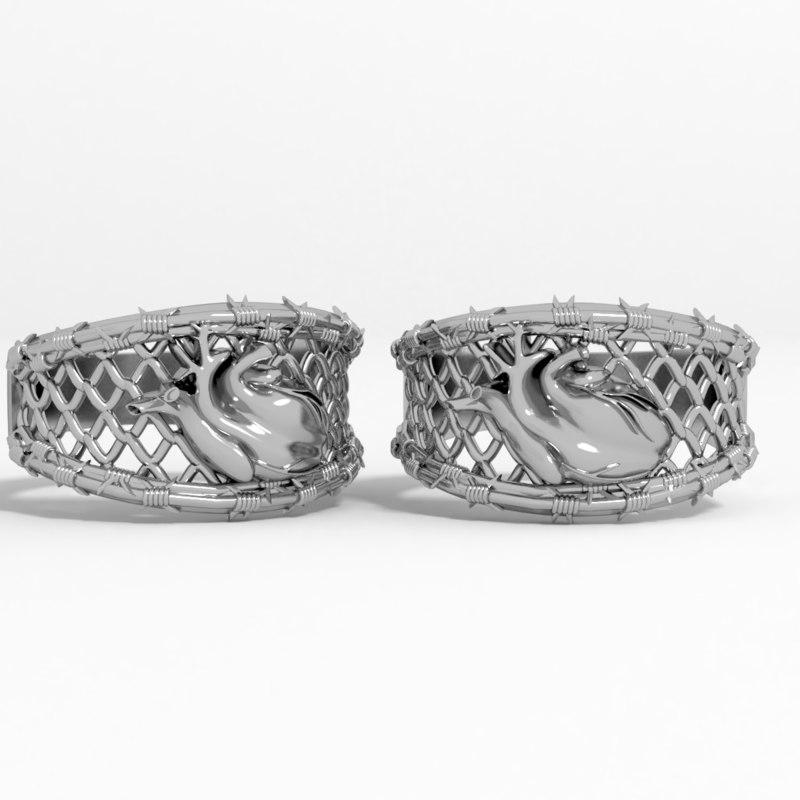 ring heart 3D model