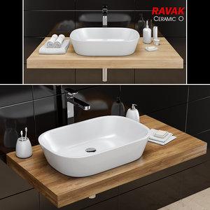 washbasin ravak | ceramic 3D