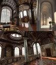 Conceptual Castle interiors Low Poly PBR Parts 1,2,3