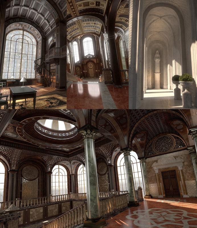3D conceptual interiors castle 1