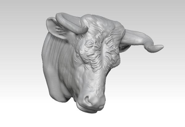3D bullfight animals bull model