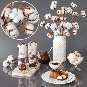 cotton chocolate 3D model