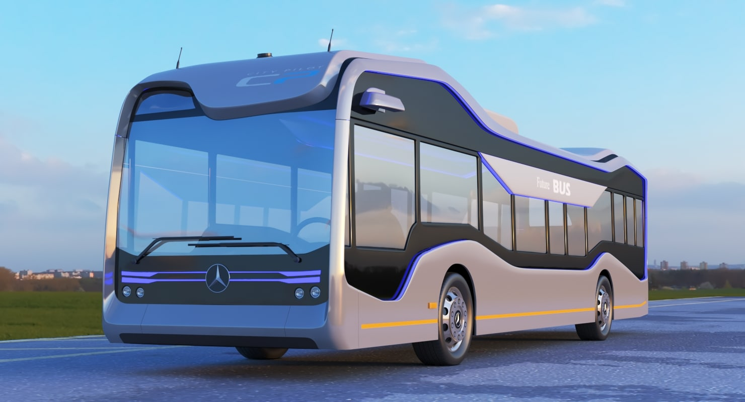 3D mercedes benz future bus