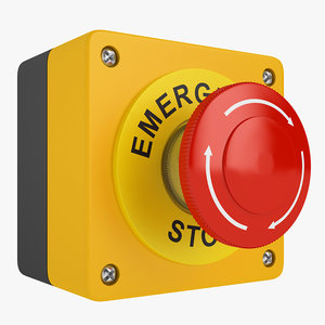 emergency stop button 3D model