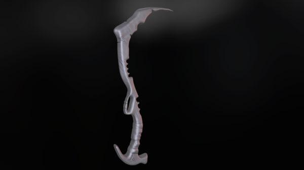 3D model machete uv