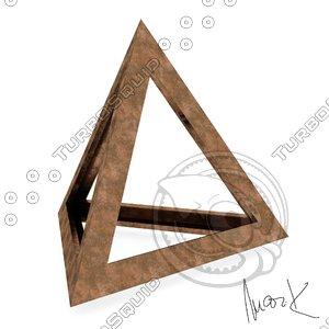 tetraedron leonardo 3D model