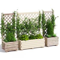 Planter with lattice