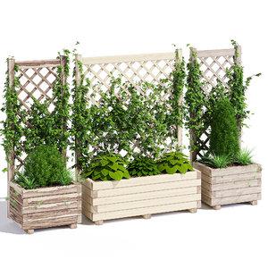 planter lattice 3D model
