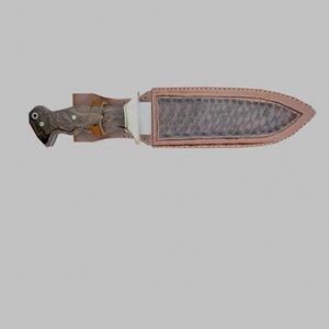 3D model knife