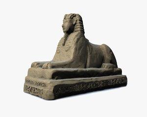 3D egyptian sphinx