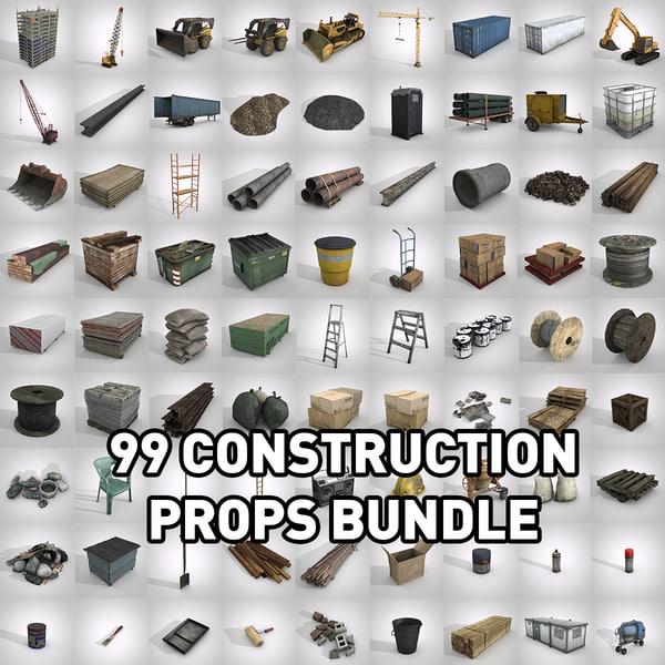 99 construction props 3D model