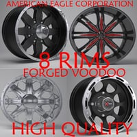 usa forged voodoo rims 3D model