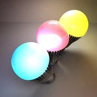 3D color led light