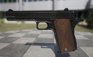 3D model gun pbr ue4