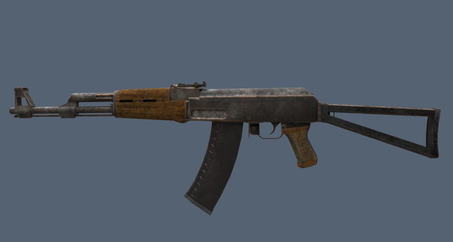 ak 74 old 3D model