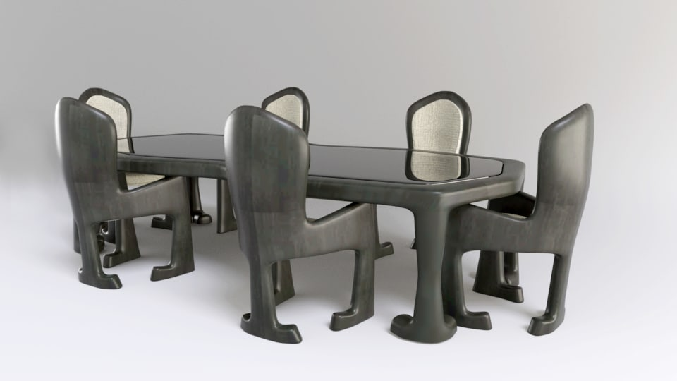 dinning room modern chairs 3D