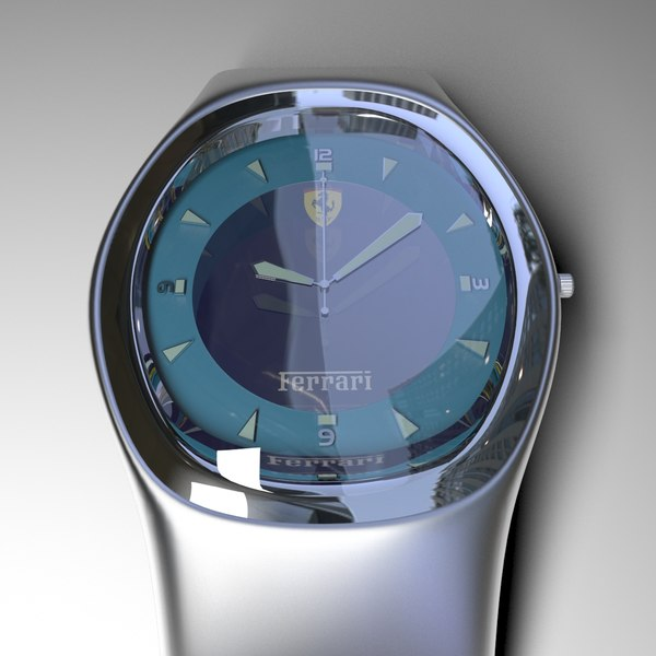 metal watch wrist 3D model