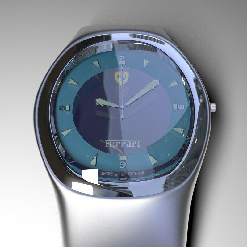 metal watch wrist 3D model
