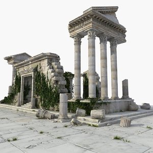 ancient ruin temple greek model