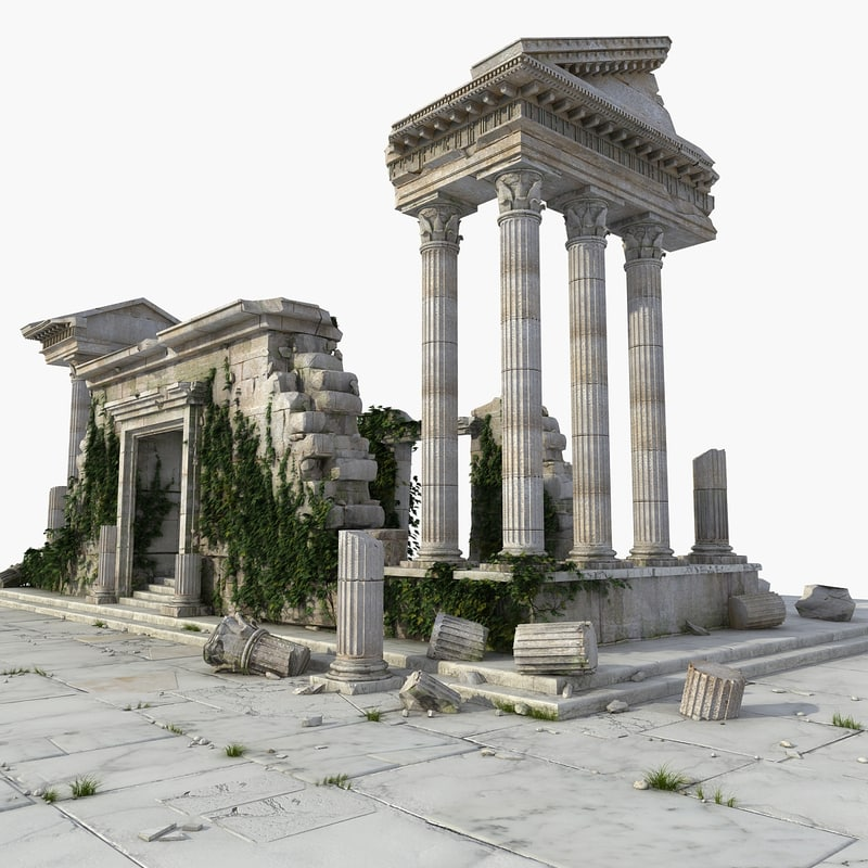 ancient ruin temple greek model