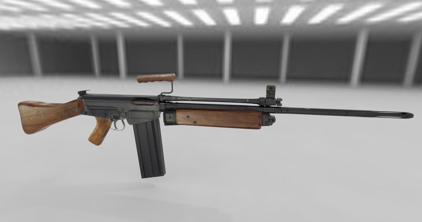 rifle slr 3D model