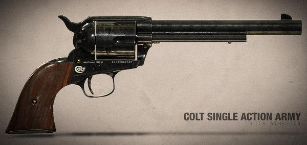 3D colt single action army