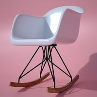 3D modern rocking chair