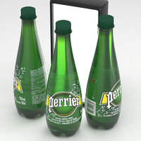 perrier water bottle 3D model