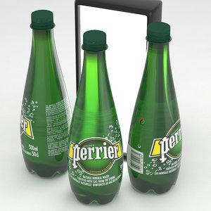 perrier water bottle 3D model