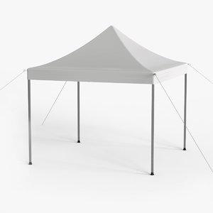 3D white canopy tent gazebo