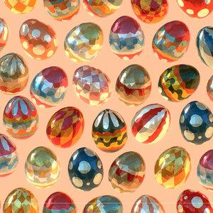art easter ornamental egg model