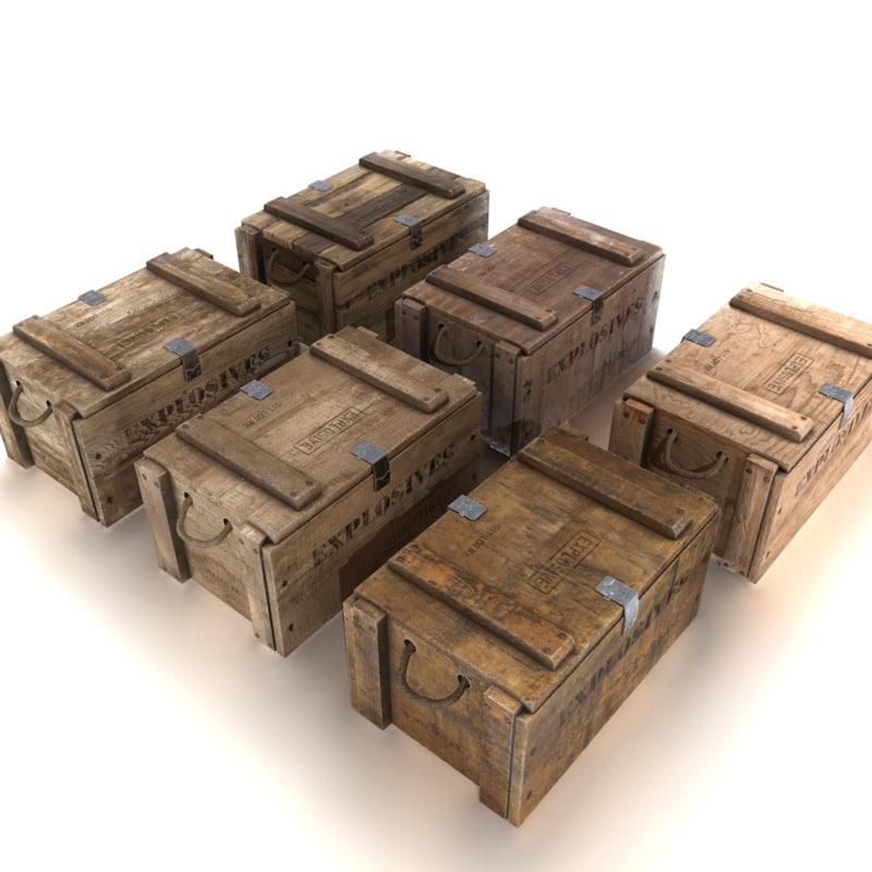 crate explosives 3D model