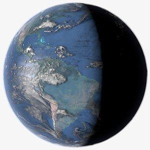 3D planet earth 16k