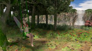 fairy blender cycles 3D