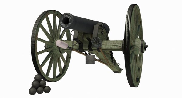 12 cannon field pounder 3D model