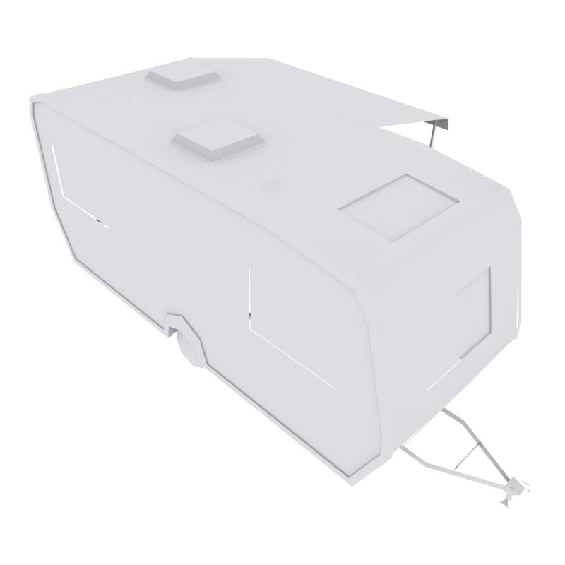 caravan car 3D model
