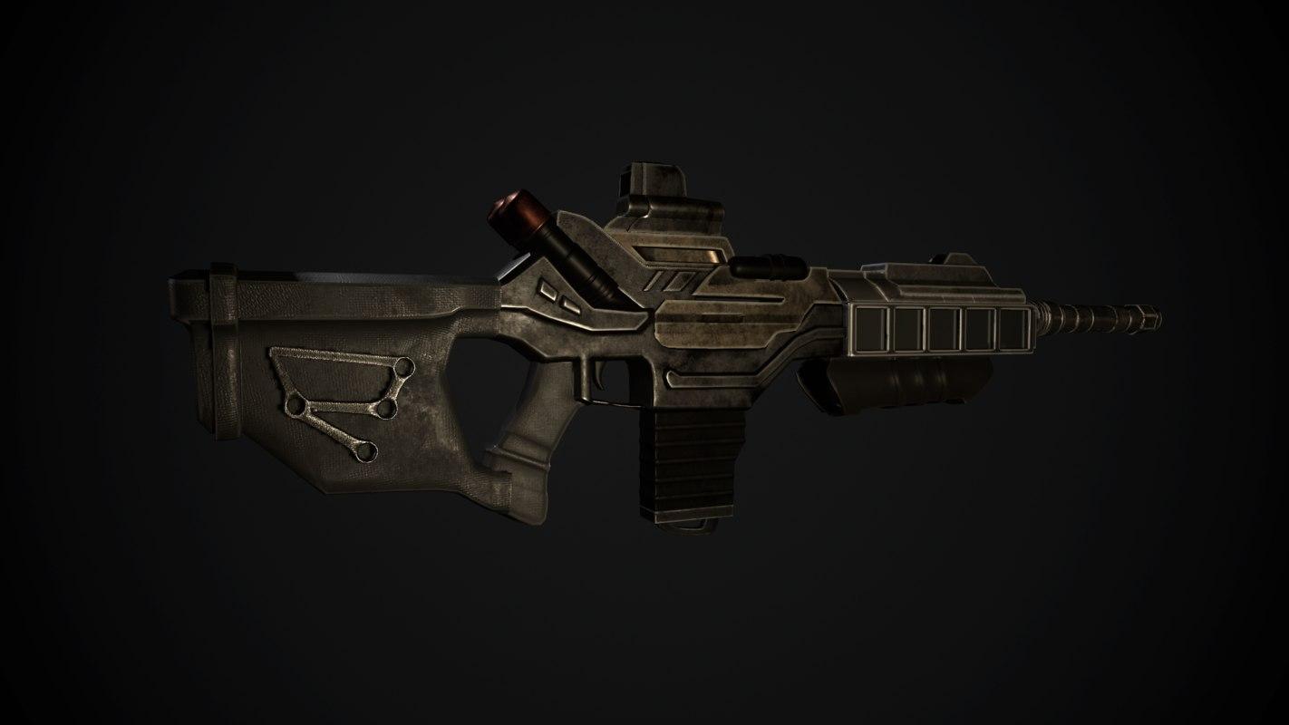 modern gun 3D model