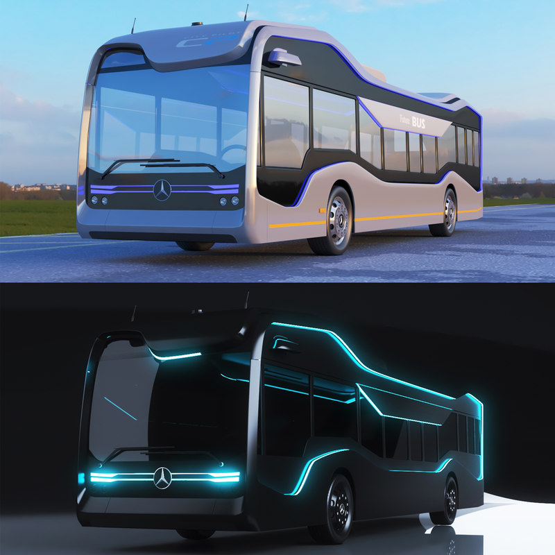 Mercedes benz future bus 3D model TurboSquid